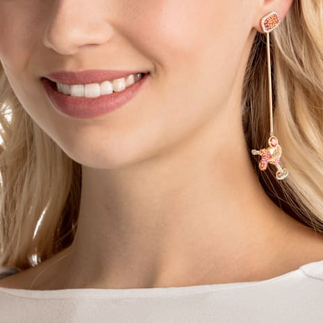 No Regrets Cocktail Pierced Earrings, Multi-colored, Gold-tone plated - Swarovski, 5457499