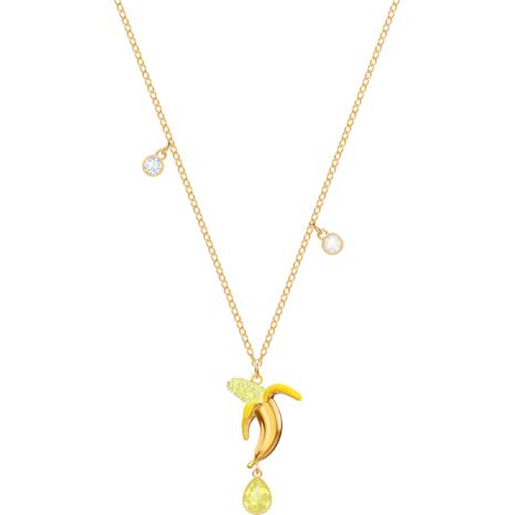 No Regrets Banana Anhänger, mehrfarbig, vergoldet - Swarovski, 5457504