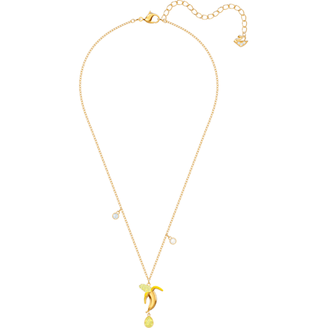 No Regrets Banana Pendant, Multi-colored, Gold-tone plated - Swarovski, 5457504