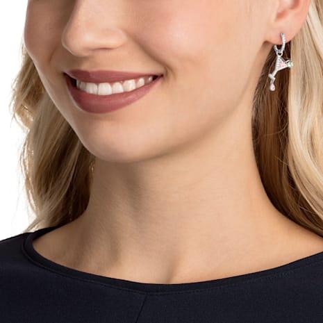 No Regrets Cocktail Pierced Earrings, Multi-coloured, Rhodium plating - Swarovski, 5457661