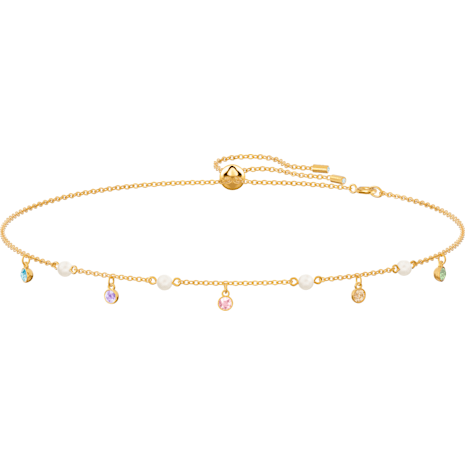 No Regrets Necklace, Multi-colored, Gold-tone plated - Swarovski, 5457664
