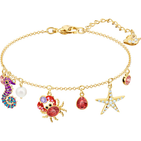 Ocean Bracelet, Multi-coloured, Gold-tone plated - Swarovski, 5457760