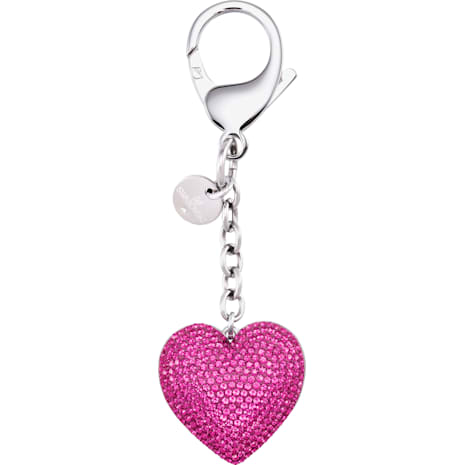 Lovely Bag Charm, Fuchsia, Stainless steel - Swarovski, 5458417