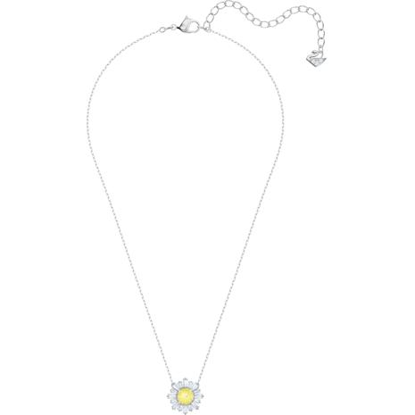 Sunshine Pendant, Yellow, Rhodium plated - Swarovski, 5459588