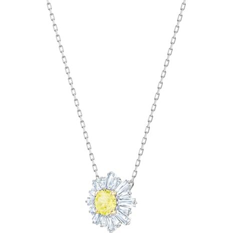 Sunshine Kolye Ucu, Sarı, Rodyum kaplama - Swarovski, 5459588