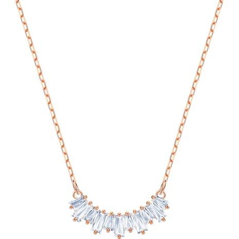 Sunshine Necklace, White, Rose-gold tone plated - Swarovski, 5459590
