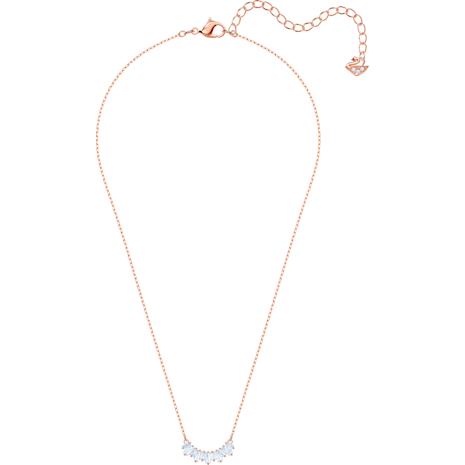 Collier Sunshine, blanc, Métal doré rose - Swarovski, 5459590
