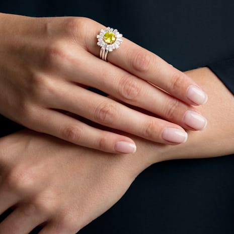Sunshine 戒指套裝, 白色, 鍍白金色 - Swarovski, 5459595