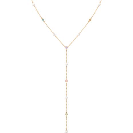 No Regrets Y Necklace, Multi-colored, Gold-tone plated - Swarovski, 5459612