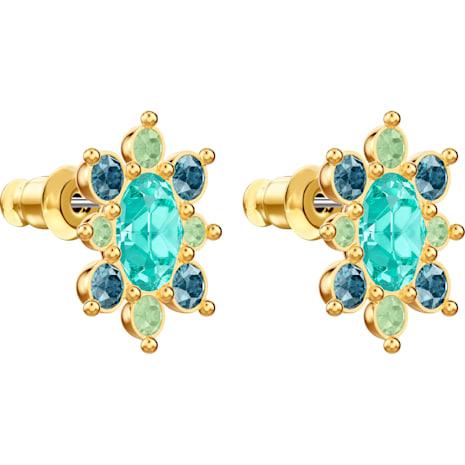 Lucky Goddess Pierced Earrings, Multi-coloured, Gold-tone plated - Swarovski, 5461791