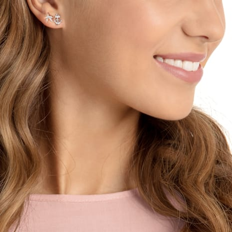 Ocean Pierced Earrings, Multi-coloured, Mixed plating - Swarovski, 5462582