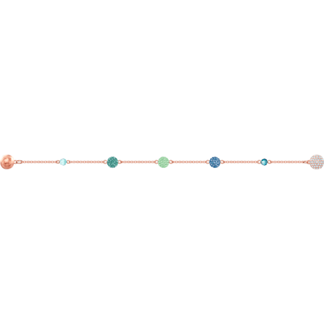 Swarovski Remix Collection Pop Strand, 綠色, 鍍玫瑰金色調 - Swarovski, 5462653