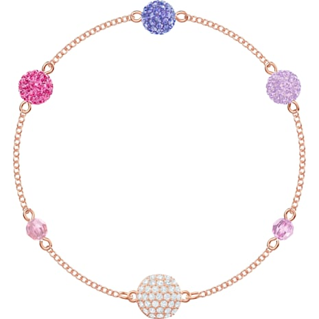 Swarovski Remix Collection Pop Strand, Mor, Pembe altın rengi kaplama - Swarovski, 5462654