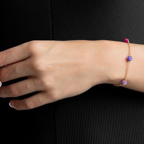 Swarovski Remix Collection Pop Strand, violeta, Baño en tono Oro Rosa - Swarovski, 5462654