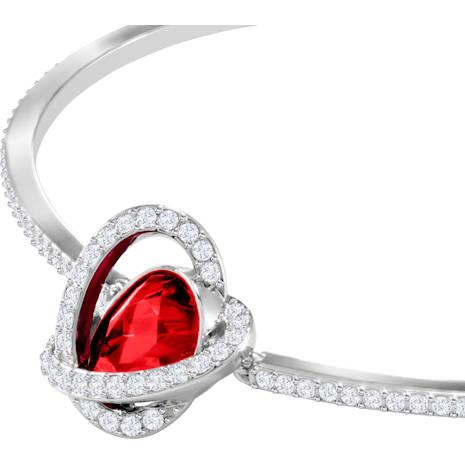 Outstanding 套裝, 紅色, 鍍白金色 - Swarovski, 5463761