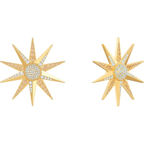 Pendientes Lucky Goddess, multicolor, Baño en tono Oro - Swarovski, 5464169