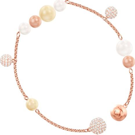 Swarovski Remix Collection Pearl Strand, multicolor, Baño en tono Oro Rosa - Swarovski, 5464297