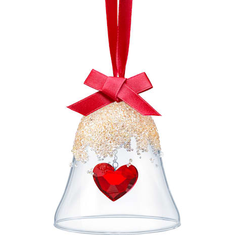 Christmas Bell Ornament, Heart - Swarovski, 5464881