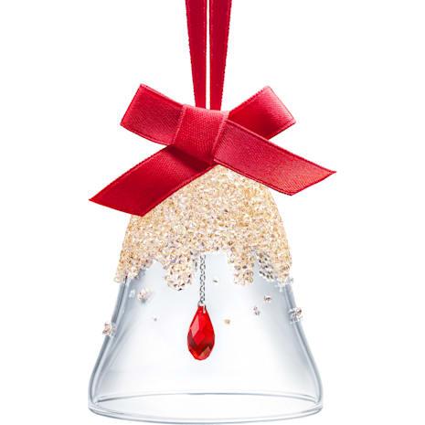 Decoración Campana de Navidad, Golden Shadow, pequeña - Swarovski, 5464882