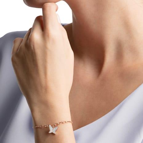 Swarovski Remix Collection Lilia Strand, White, Rose-gold tone plated - Swarovski, 5466823