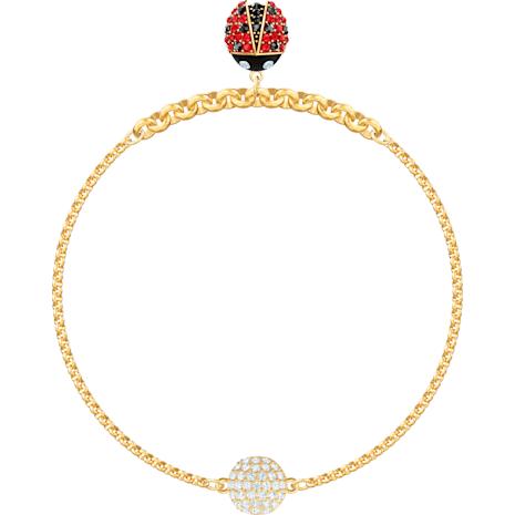 Swarovski Remix Collection Ladybug Strand, mehrfarbig, Vergoldet - Swarovski, 5466832