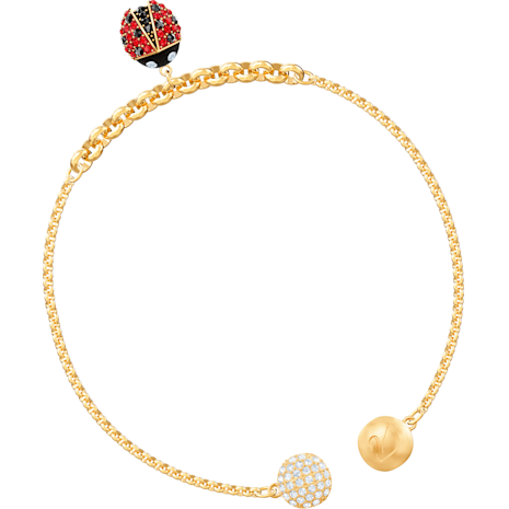 Swarovski Remix Collection Ladybug Strand, Multi-colored, Gold-tone plated - Swarovski, 5466832