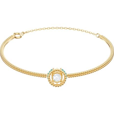 Oxygen Bangle, Multi-coloured, Gold-tone plated - Swarovski, 5468722