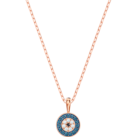 Luckily Pendant, Multi-colored, Rose-gold tone plated - Swarovski, 5468919