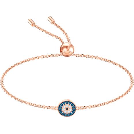 Luckily Bracelet, Multi-coloured, Rose-gold tone plated - Swarovski, 5468924