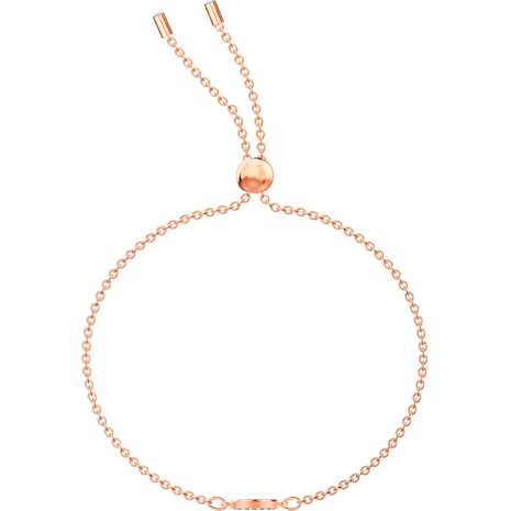 Luckily Bracelet, Multi-colored, Rose-gold tone plated - Swarovski, 5468924