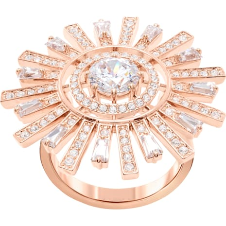 Sunshine Cocktail Ring, weiss, Rosé vergoldet - Swarovski, 5470397