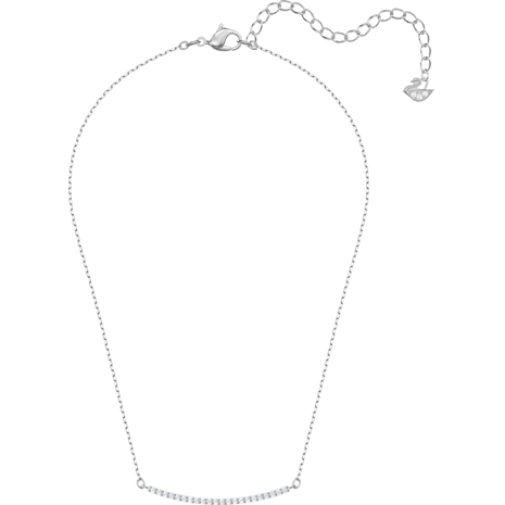 Collar Only, blanco, Baño de Rodio - Swarovski, 5470555