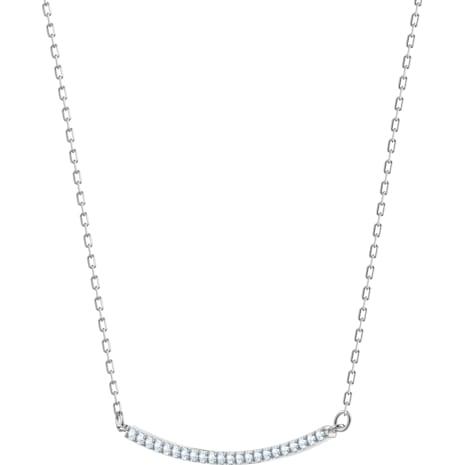 Only Necklace, White, Rhodium plated - Swarovski, 5470555