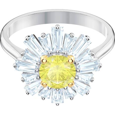 Sunshine Yüzük, Sarı, Rodyum kaplama - Swarovski, 5472481