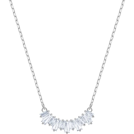 Sunshine Necklace, White, Rhodium plated - Swarovski, 5472490