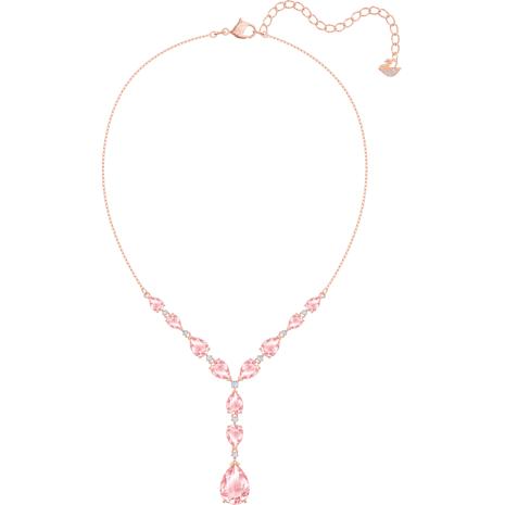 Collana Vintage, rosa, Placcato oro rosa - Swarovski, 5472610