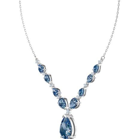 Collana Vintage, azzurro, Placcatura rodio - Swarovski, 5472614