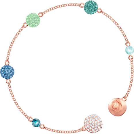 Swarovski Remix Collection Pop Strand, Green, Rose-gold tone plated - Swarovski, 5479009