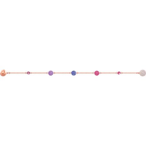 Swarovski Remix Collection Pop Strand, Purple, Rose-gold tone plated - Swarovski, 5479010