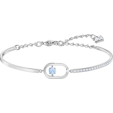 Sparkling Dance Armband, blau, Rhodiniert - Swarovski, 5479120