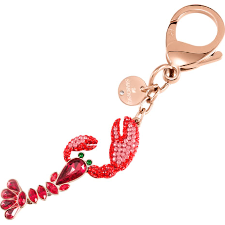 Sea Life Bag Charm, Red, Mixed plating - Swarovski, 5479965