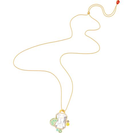 No Regrets Pendant, Multi-colored, Gold-tone plated - Swarovski, 5480241