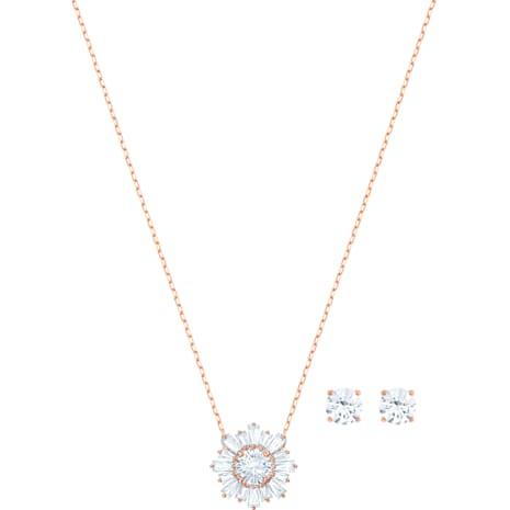 Conjunto Sunshine, blanco, Baño en tono Oro Rosa - Swarovski, 5480468