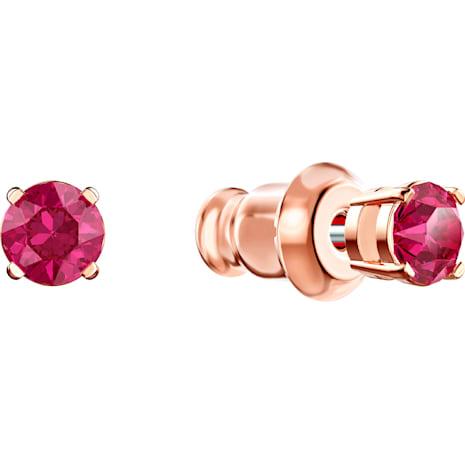 Swarovski Sparkling Dance Round Set, Red, Rose-gold tone plated - Swarovski, 5480494