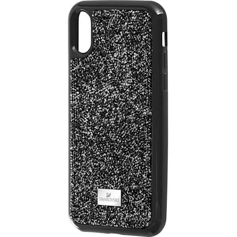 Coque rigide pour smartphone avec cadre amortisseur Glam Rock, iPhone® XS Max, noir - Swarovski, 5482283