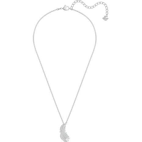 Collana Nice, bianco, Placcatura rodio - Swarovski, 5482914