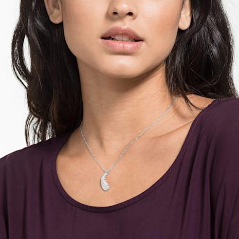 Nice Necklace, White, Rhodium plated - Swarovski, 5482914