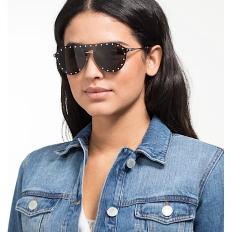 Swarovski Sunglasses with Click-on Mask, SK0275 – H 52016, Gray - Swarovski, 5483807