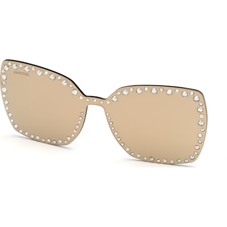 check-out 1b9d7 d38c3 Maschera a clip per occhiali da sole Swarovski, SK5330-CL 32G, marrone