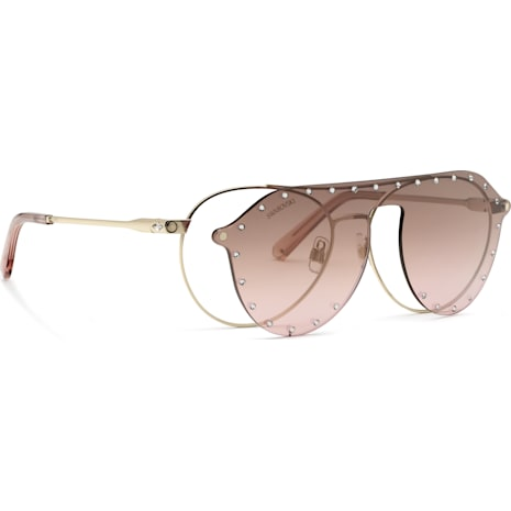 Swarovski Sunglasses with Click-on Mask, SK0276 – H 54032, Pink - Swarovski, 5483811